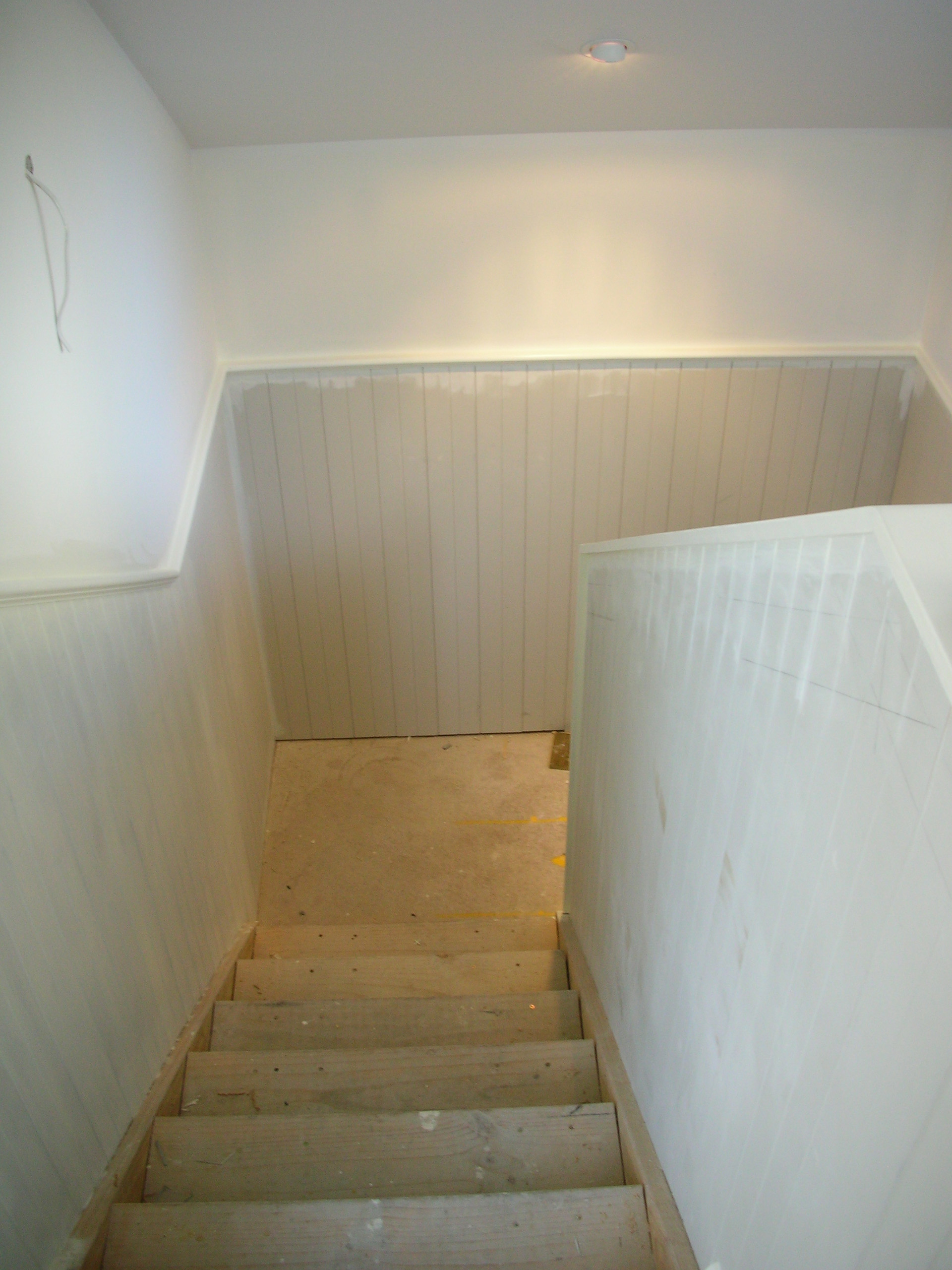 Loft staircase - During